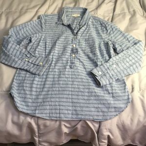 J crew striped chambray shirt